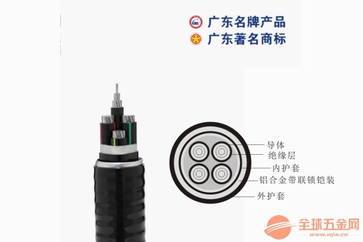 珠江铠装VV22-4*16电缆