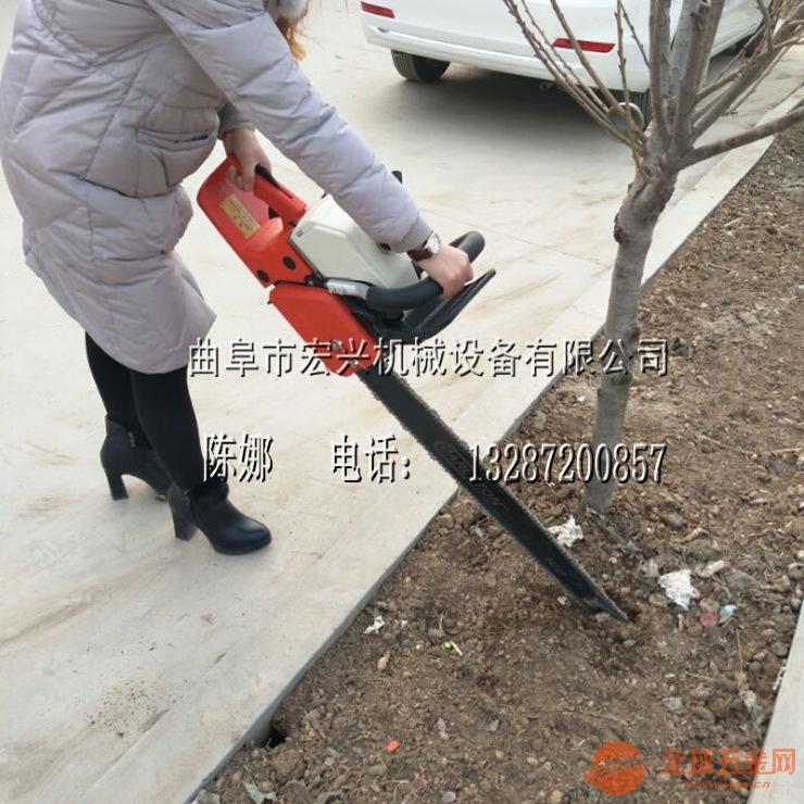 汽油链条挖树机