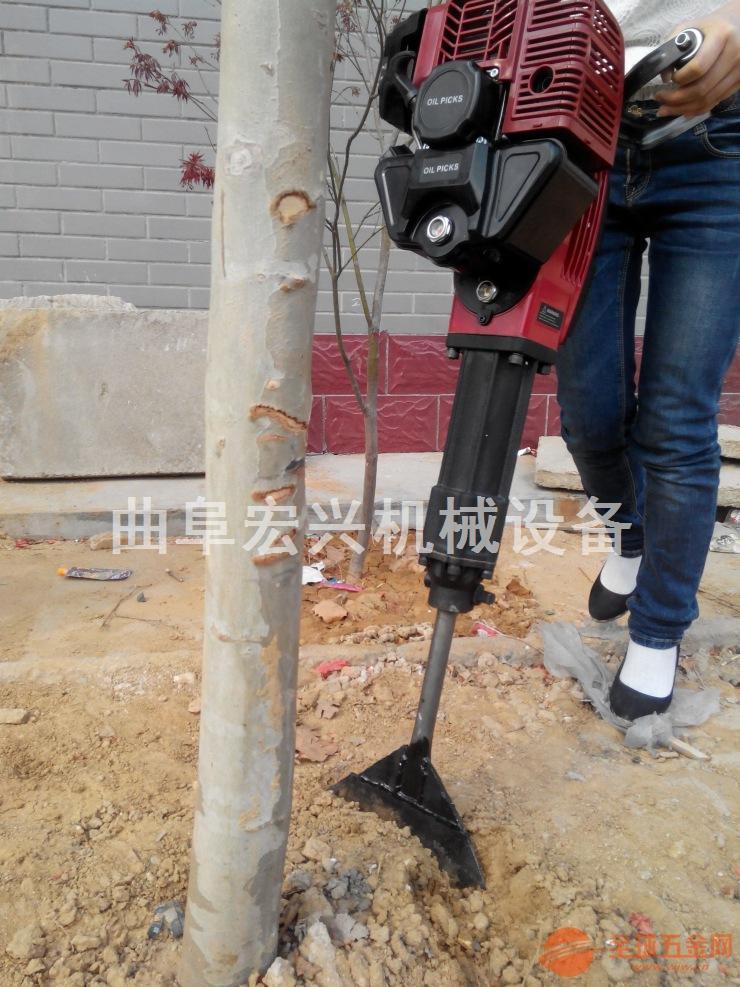 小型汽油挖树机