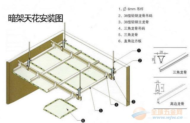 晋城铝扣板 高品质 欧陆天花 专利抗菌技术