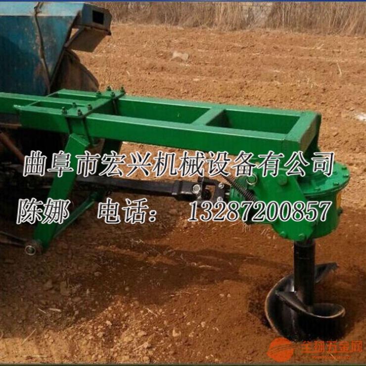 拖拉机带的挖坑机 四轮后轴挖坑机 打树坑的工具