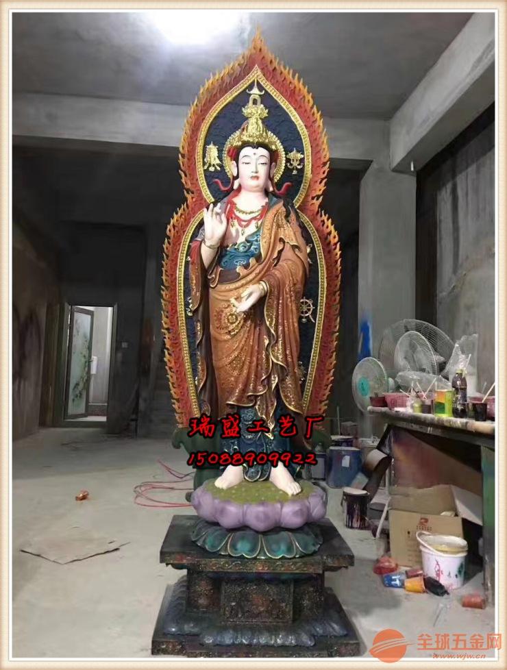 西方三圣铜佛像