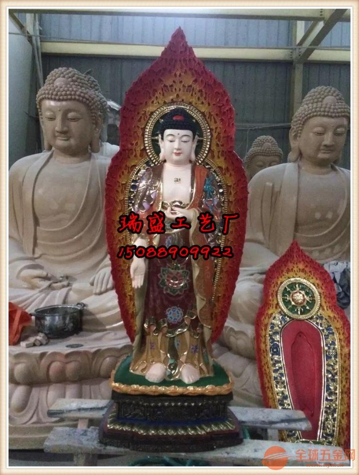 温州玻璃钢佛像(西方三圣厂家+西方三圣佛像供应厂家)