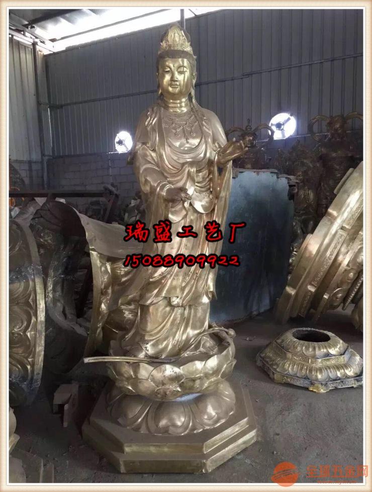 铸铜佛像厂家(西方三圣铜佛像、铜雕西方三圣价格)