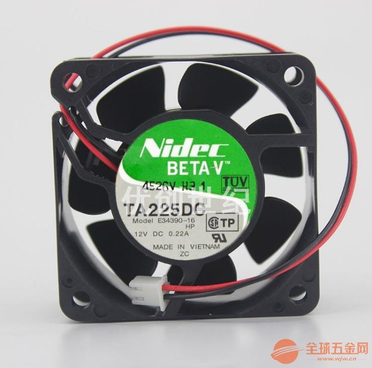 TA225DC E34390-16 6025 12V 0.22A风扇