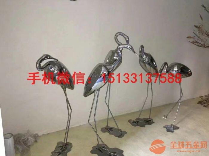 宜春不锈钢仙鹤雕塑 动物不锈钢雕塑厂家