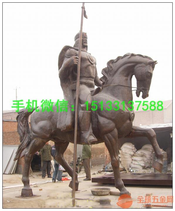骑马人物铜雕塑