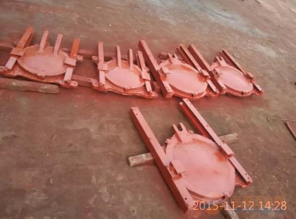 石家庄墙式镶铜铸铁圆闸门厂家直营价格低