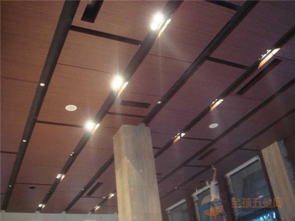 商场木纹铝单板厂家定制 室内热转印木纹铝单板 木纹造
