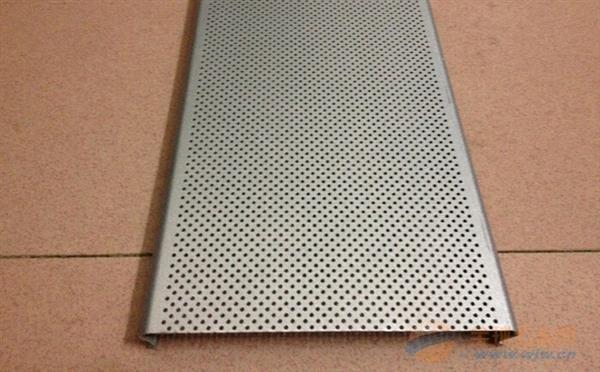 木纹冲孔防风C型铝条扣
