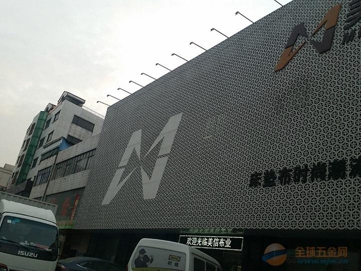 邢台户外外墙室内商场天花板艺术镂空单板安装效果