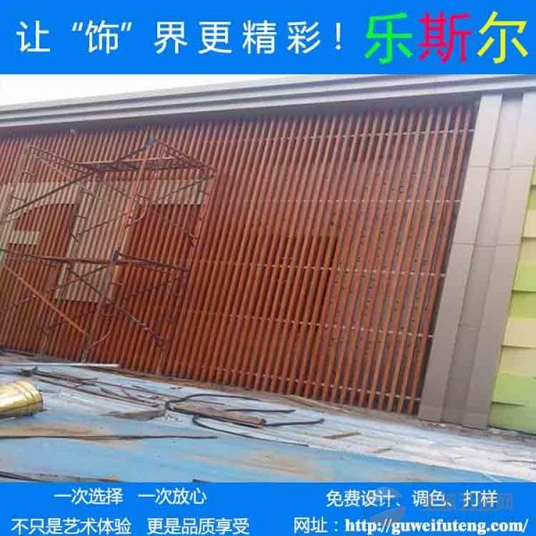 外墙立柱木纹铝方管三米长铝方通