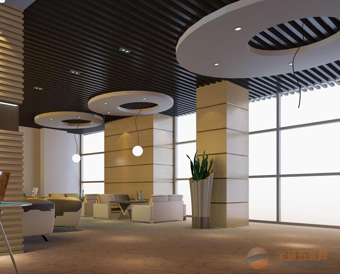 办公室黑色氟碳铝方通40/100吊顶