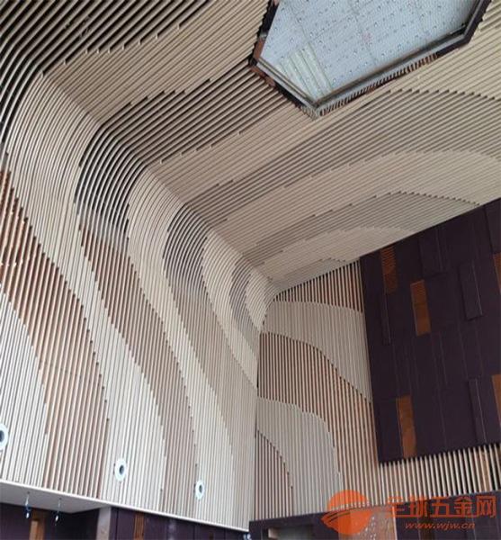 铝方通规格-装修材料-木纹弧形铝方通厂家-铝方通吊顶厂家