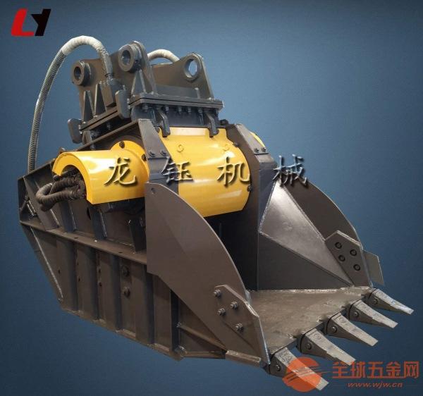 厂家直销柳工挖掘机挤压式破碎斗 高振幅破碎铲器
