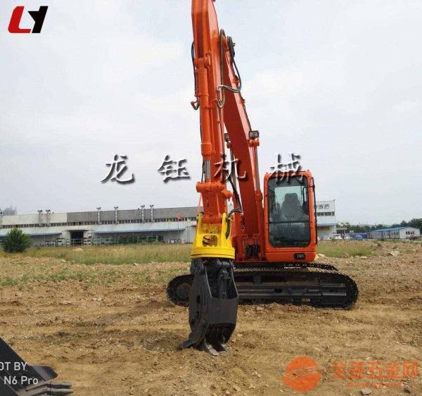 挖溝機液壓夾木器2019新款龍工挖掘機機械式抓木機生產廠