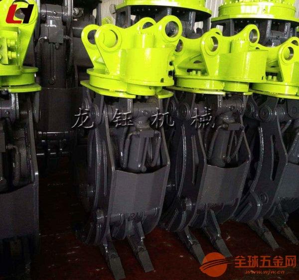 全國聯保高效機械式抓木機_挖掘機液壓抓木機