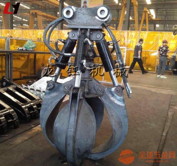 挖土机液压四瓣莲花抓 三一挖掘机液压四瓣抓钢机生产厂