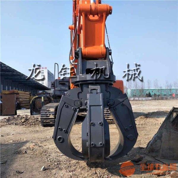 挖土機液壓四瓣蓮花抓 三一挖掘機液壓四瓣抓鋼機生產廠