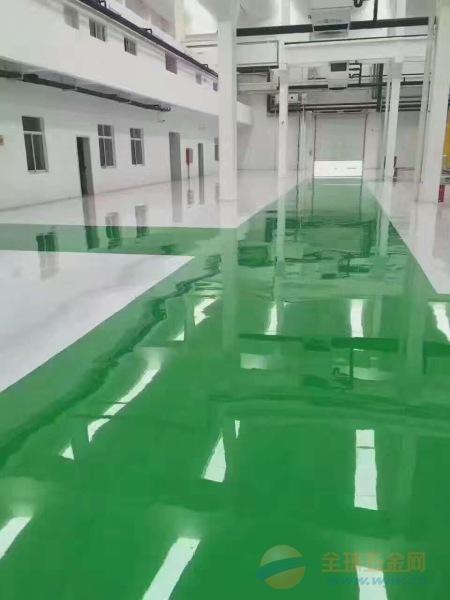 深州厂房自流平地坪漆绿色自流平地坪漆