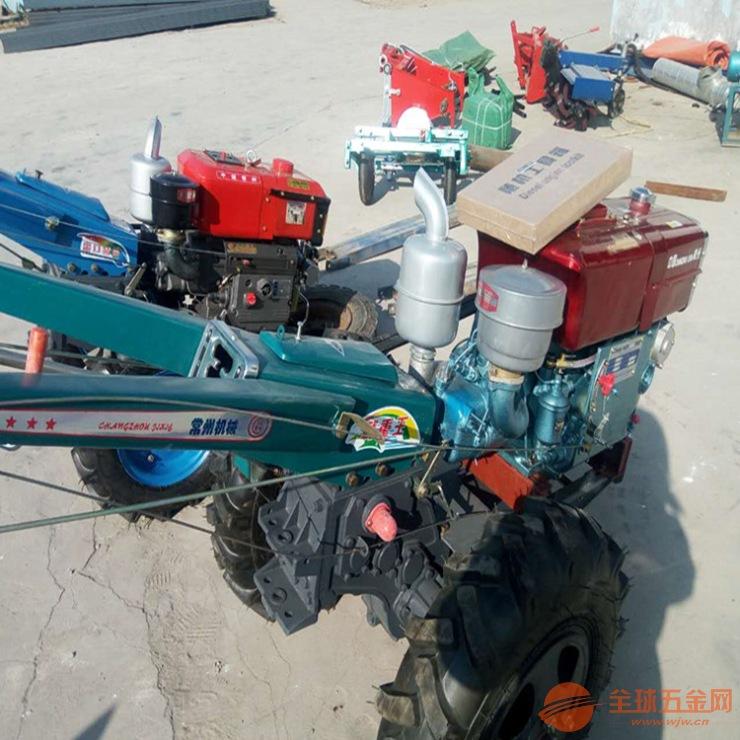 厂家直销农用手扶拖拉机 多功能田园管理机15马力手扶拖拉机旋耕机