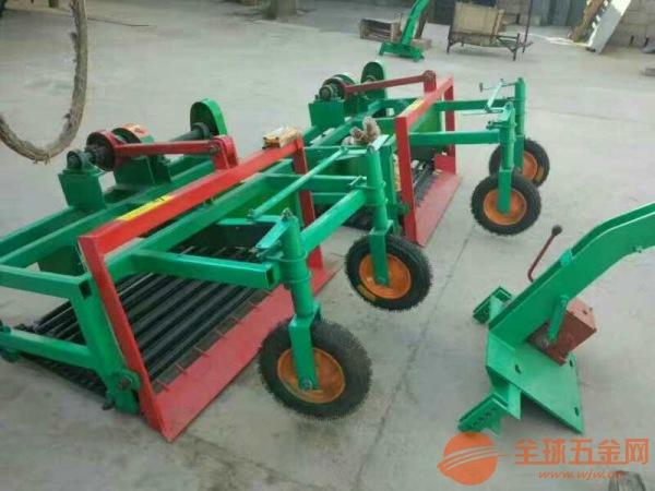 辽阳 大蒜前置收获机 单杠拖拉机皮带轮出蒜机