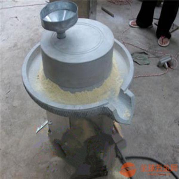 超市专用天然石磨磨浆机 芝麻香油加工设备 豆浆石磨机