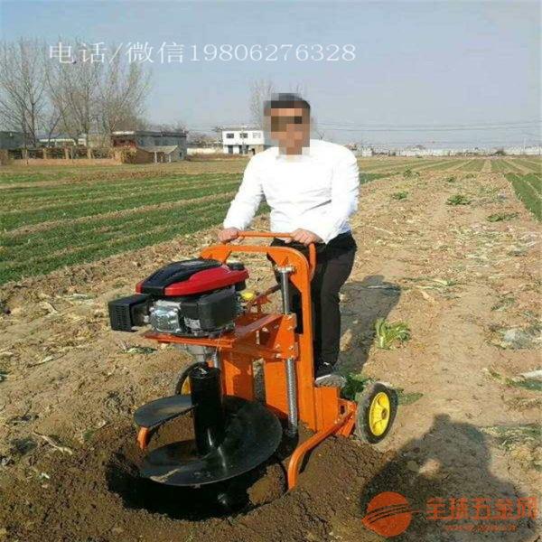 宝鸡 栽树育苗钻眼机 篱笆打桩挖坑机