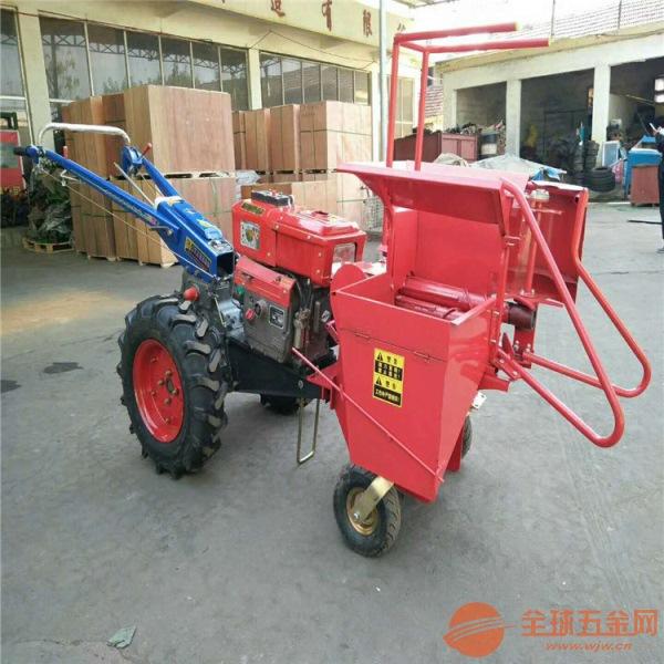 宁城县 新款家用玉米收获机 单行玉米收割机