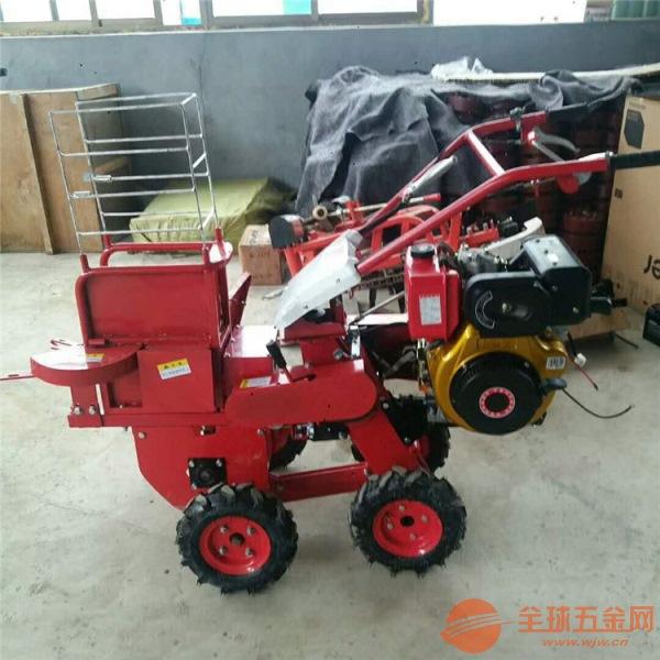 海拉尔 玉米棒子单行收获机 小型柴油玉米收获机