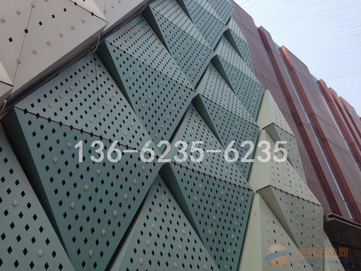 张家口浅灰色幕墙凸凹形状铝单板加工成型厂