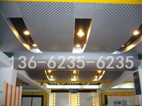 吊頂16mm鋁單板|吊頂弧形16mm孔鋁幕墻板成型加工廠