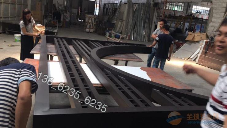长方形大方管园林(博物馆)新款铝窗花成型尺寸长度