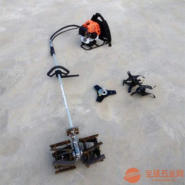 多功能田园管理机设备 小型背负式汽油除草机 便携式除
