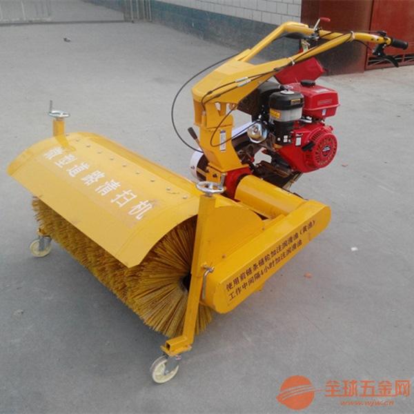 吉林大马力滚刷扫雪机 厂家直供手扶式除雪机 汽油驱动铲雪机
