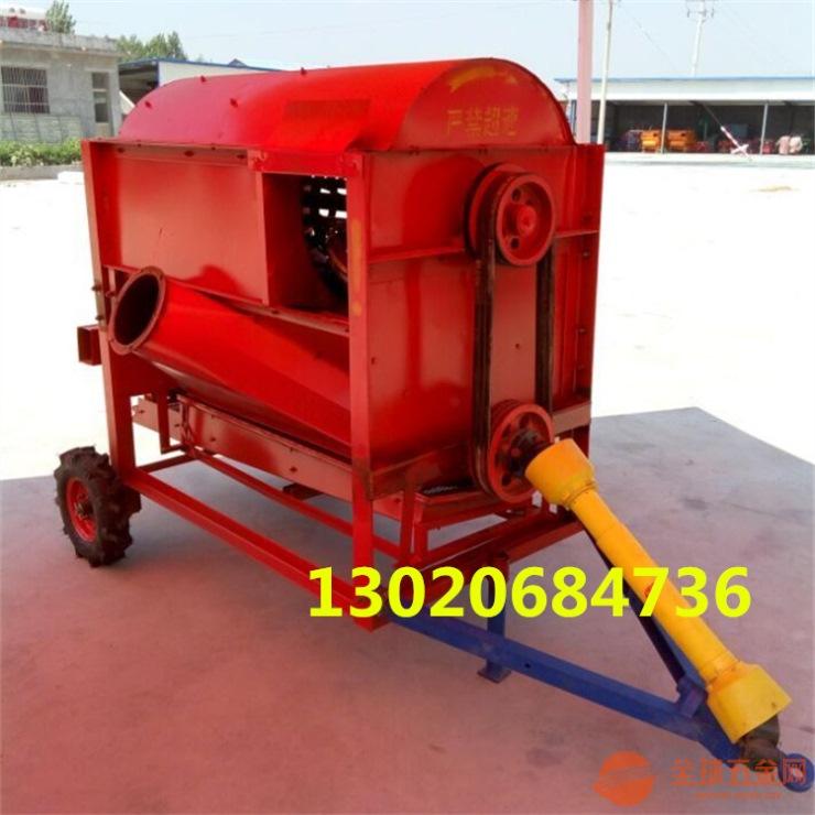 拖拉机带动大型谷子高粱脱粒机 高效全自动谷子脱粒机