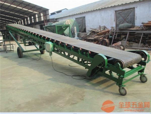 大倾角袋装肥料输送机 自动升降输送机制造商