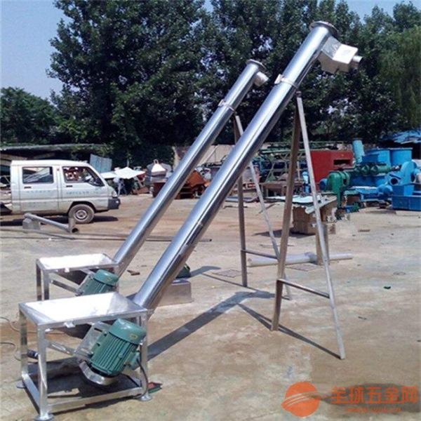 锰钢材质沙子提升机 不同管径电动喂料机