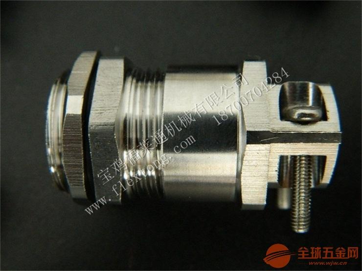 六、锁紧电缆接头 锁紧电缆接头采用优质304/316不锈钢材料制成,是电缆格兰头的一种,它是在电缆接头的外端设计再设计一个外部锁紧电缆的装置,靠两个加片和螺丝锁紧,起到双重锁紧电缆的作用,防水防尘抗拉等性能更加优越。