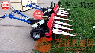 农业小型玉米割晒机柴油侧放式小麦割晒机韶关