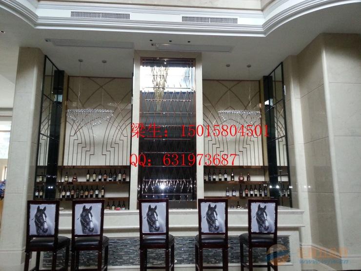 中式酒店装饰不锈钢屏风花格精品隔断