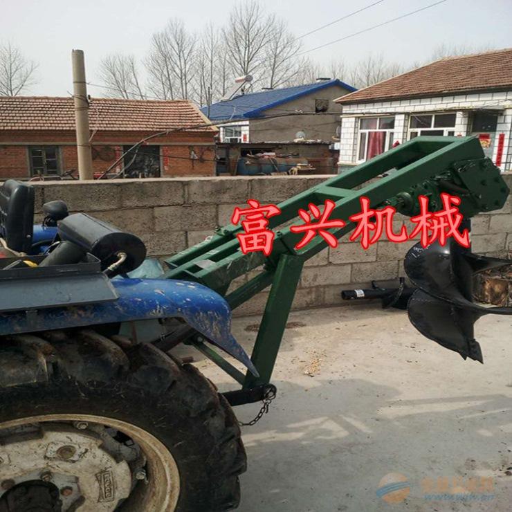 南阳 富兴牌苗木施肥钻孔机螺旋大马力硬质地面挖坑机