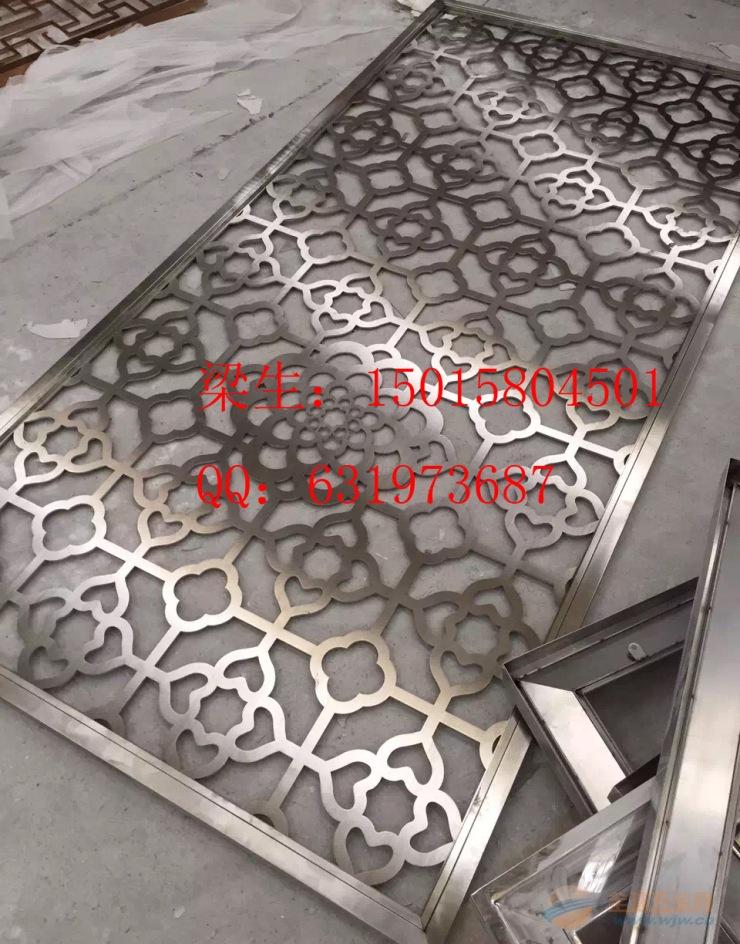 不锈钢垃圾桶 >定制不锈钢花格 会所装修激光切割屏风 方管全焊拼接