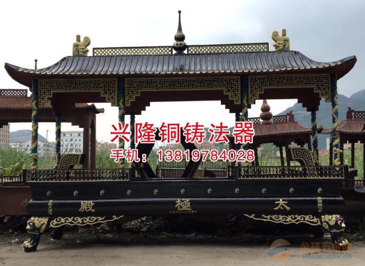 兰溪市铸造香炉厂家批发定制寺庙铜铁圆方香炉六龙柱香炉焚纸炉