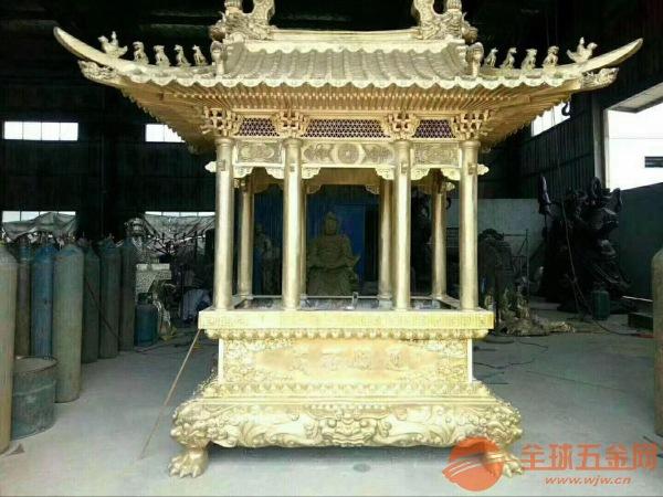 济南铸造香炉厂家定制批发寺庙铜铁香炉六龙柱香炉圆方平