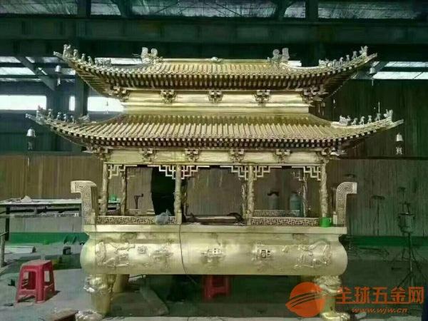济南市铸造香炉厂家定制批发寺庙铜铁香炉六龙柱香炉圆方