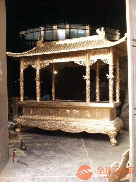 开封市铸造香炉厂家定制批发寺庙铜铁香炉六龙柱香炉
