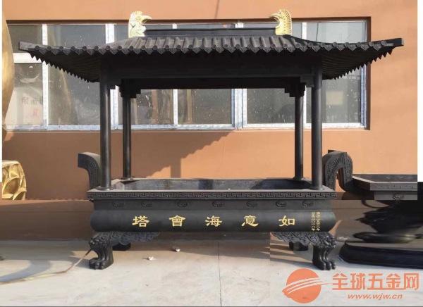 常州市铸造香炉厂家定制批发寺庙铜铁香炉六龙柱香炉