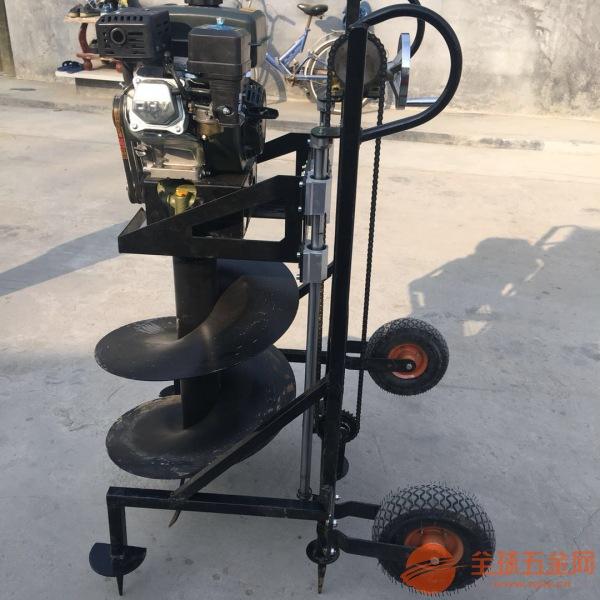 延吉市 手扶钻眼机打孔机优质便携式汽油挖坑机