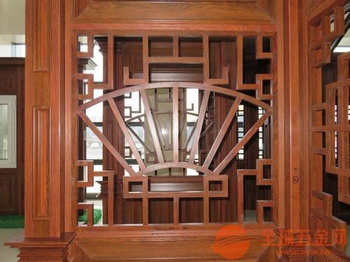 厂家定制仿古住宅商业区铝花格_室内铝合金屏风_中式木
